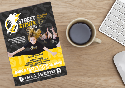 Street Struck Dance Leaflet Design