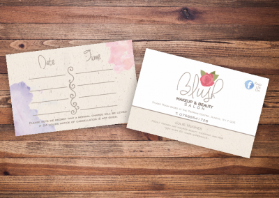 Blush Beauty Business Card Design