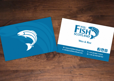 You Fish Scotland Business Card Design