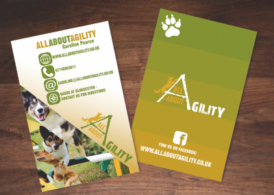 All About Agility Business Card Design