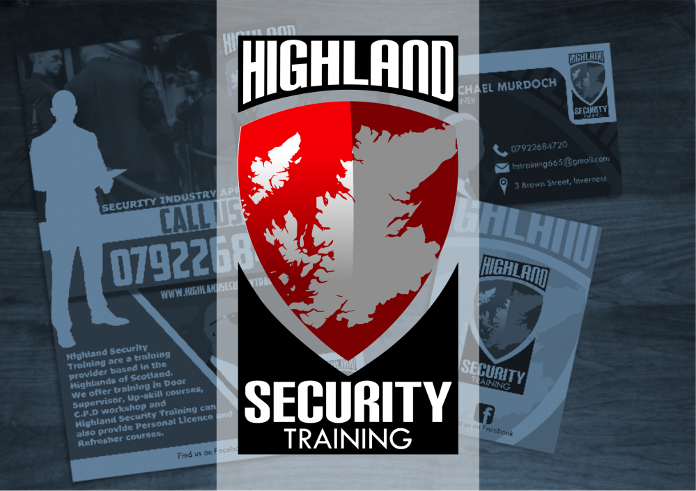 Highland Security Training Logo Design