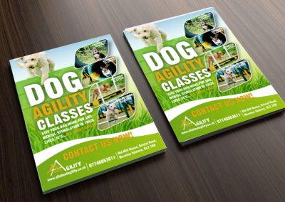 All about agility leaflet design