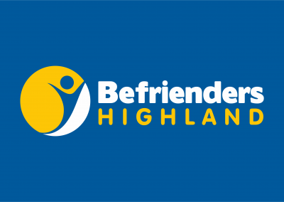 Logo designed by Highland Graphics for Befrienders