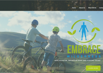 Embrace Wilderness website design