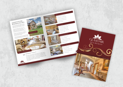 Brochure Design for Glasdair Bed and Breakfast in Inverness